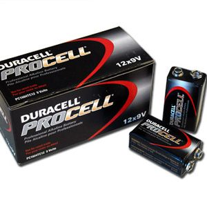 1 Box: 12pcs Duracell ProCell 9V Size (PC1604) Alkaline Batteries