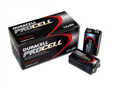1 Box: 12pcs Duracell ProCell 9V Size (PC1604) Alkaline Batteries