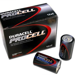 1 Box: 12pcs Duracell ProCell C Size (PC1400) Alkaline Batteries