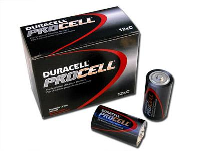 1 Box: 12pcs Duracell ProCell C Size (PC1400) Alkaline Batteries