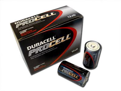 1 Box: 12pcs Duracell ProCell D Size (PC1300) Alkaline Batteries