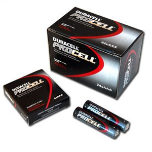 1 Box: 24pcs Duracell ProCell AAA Size (PC2400) Alkaline Batteries