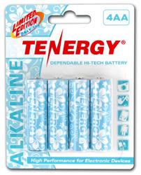 1 Card: Tenergy AA Size Hawaiian Version Alkaline Batteries