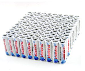 100pcs Tenergy Premium AA 2500mAh NiMH Rechargeable Batteries