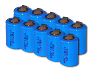 10pcs Tenergy 4/5 SubC 1300mAh NiCd Flat Top Rechargeable Battery w/ Tabs