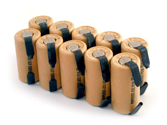 10pcs Tenergy SubC 2000mAh NiCd Paper Wrapped Rechargeable Battery w/ Tabs