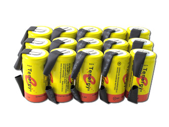 15 Tenergy SubC 2200mAh NiCd Rechargeable Battery for Power Tools (w/ Tabs)