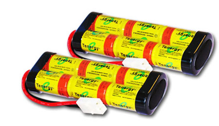 2 Packs: Tenergy 7.2V 2200mAh High Power NiCd Battery Pack w/ Tamiya Connectors for RC Cars