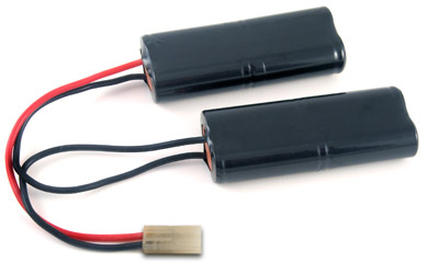 AT: Tenergy 9.6V 2000mAh Nunchuck NiMH Airsoft Battery Packs (8 x 4/5A)