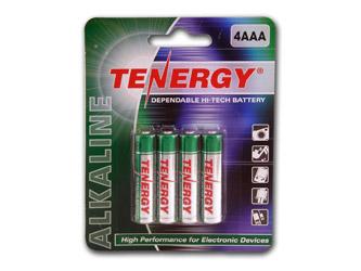 Card: 4pcs Tenergy AAA Size Alkaline Batteries
