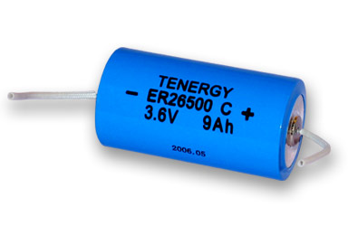 Primary Lithium thionyl chloride Battery C Size 3.6V 9.0 Ah , same as LS26500 and ER26500 etc with Wires (non Rechargeable) (DGR-A)