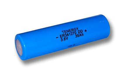 Primary Lithium thionyl chloride Battery DD Size 3.6V 36Ah (ER341270) - Ultra High Capacity Cell (non Rechargeable) (DGR)