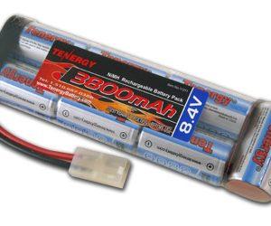 Tenergy 8.4V 3800mAh Flat NiMH Battery Pack for Airsoft Rifles, RC Car, Hobbico Electristar plane