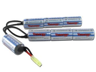 Tenergy 8.4V 5000mAh Crane Stock NiMH Battery Pack for Airsoft