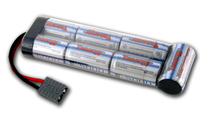 Tenergy 8.4V 5000mAh Flat NiMH Battery Pack w/ Traxxas Connector for RC Cars