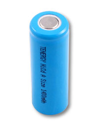 Tenergy A Size 1400mAh NiCd Flat Top Rechargeable Battery