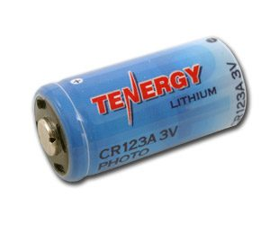 Tenergy CR123A Lithium Battery 1300mAh w/ PTC Protection