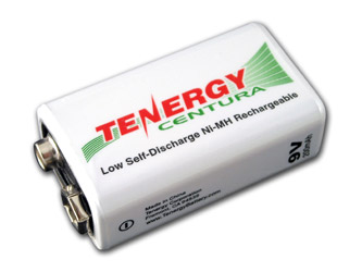 Tenergy Centura NiMH 9V 200mAh Low Self Discharge Rechargeable Battery