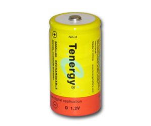 Tenergy D 5000mAh NiCd Button Top Rechargeable Battery
