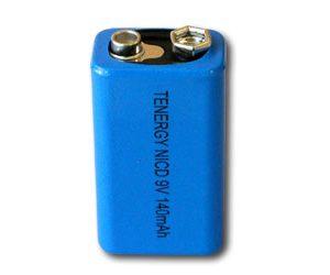 Tenergy NiCd 9V 140mAh High Capacity Rechargeable Battery