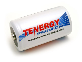 Tenergy Premium D 10000mAh NiMH Rechargeable Battery