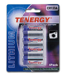 Tenergy Propel CR123A Lithium Battery with PTC Protected (4 pcs) -- Retail Card