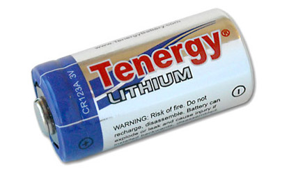 Tenergy Propel CR123A Lithium Battery with PTC Protected