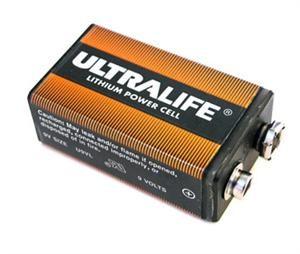 Ultralife 9V Lithium Battery U9VL-FP Foil Pack, Long Life, Plastic Casing Foil Pack