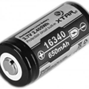 -16340-650 650mAh 3.6V Protected Lithium Ion Button Top Battery