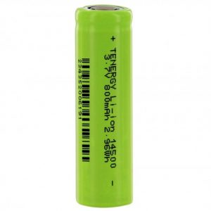 -30001-0-14500-800 3.7V Unprotected Lithium Ion Flat Top Battery