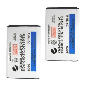 Nokia BL-6C Cellular Phone Battery (Set of 2) (Extended Lithium Ion)