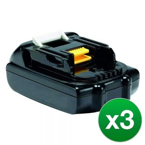 Replacement Battery For Makita XWT04Z Power Tools - BL1815 (1500mAh, 18V, Lithium Ion) - 3 Pack