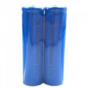ZHAOYAO 18650 3.7V 3000mAh Rechargeable Lithium Battery - Blue (2PCS)