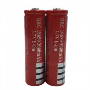 ZHAOYAO 18650 3.7V 3000mAh Rechargeable Lithium Battery - Red (2PCS)