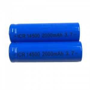 ZHAOYAO 2Pcs 3.7V 14500 2000mAh Rechargeable Lithium Battery - Blue