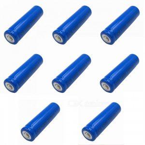 ZHAOYAO 8Pcs 3.7V 14500 2000mAh Rechargeable Lithium Battery - Blue