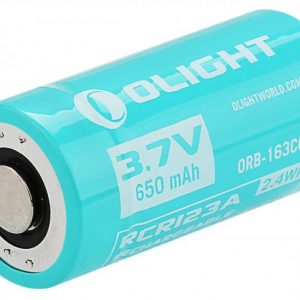-16340-650MAH-S10RIII 650mAh 3.7V Protected Lithium Ion Button Top Battery for S10R III & H1R