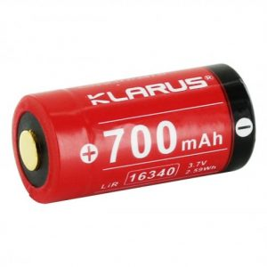 -16340-700 700mAh 3.7V Protected Lithium Ion Button Top Battery