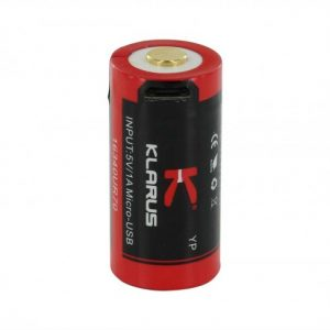 -16340UR70 700mAh 3.7V Protected Lithium Ion Button Top Battery with Micro USB Charging Port
