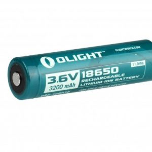 -18650-3200MAH-CARD 3200mAh 3.6V Protected Lithium Ion Button Top Battery