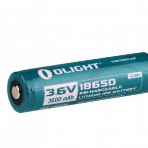 -18650-3600MAH-CARD 3600mAh 3.6V Protected Lithium Ion Button Top Battery