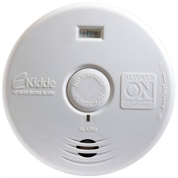 Hallway Smoke Alarm Detector Sealed Lithium Battery Power With Safety Light