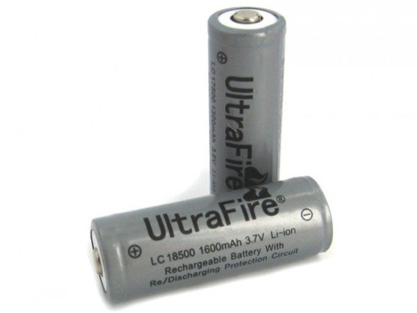 , 1600mAh 3.7V Protected Lithium Ion Button Top Battery