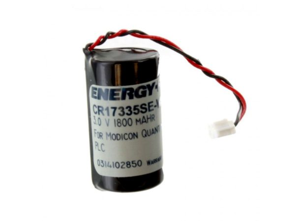 , 1800mAh 3V Lithium Primary Battery Pack for Quantum PLC Logic Controllers Heat Sealed Bag