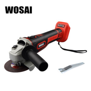 wosai 20v electric cordless angle grinder lithium battery grinding machine polishing cutting grinding sanding wax power tools