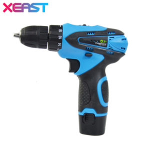xeast 12 v electric screwdriver cordless drill mini wireless power driver dc lithium-ion battery 2-speed