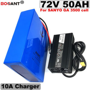 +10a charger 72v 50ah 5000w electric bike battery for samsung 35e sanyo ga 3500 18650 battery pack 72v e-bike lithium battery