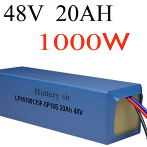 customs duty diy lithium battery 48v 1000w super power electric bike battery 48v 20ah lithium ion battery +charger+bms
